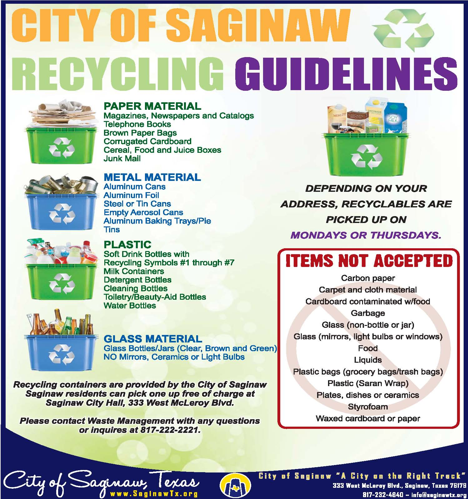 NEW Recycling Rules 102119
