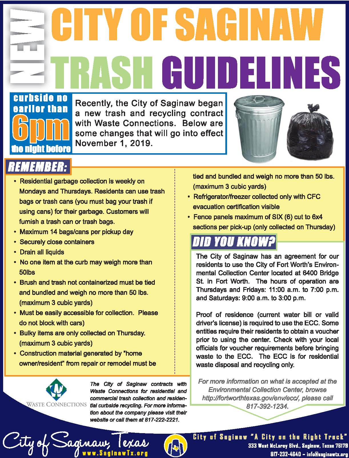 NEW Trash Rules 102119