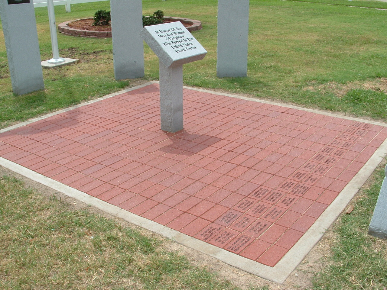 Veteran's Memorial bricks in Kiwanis Park